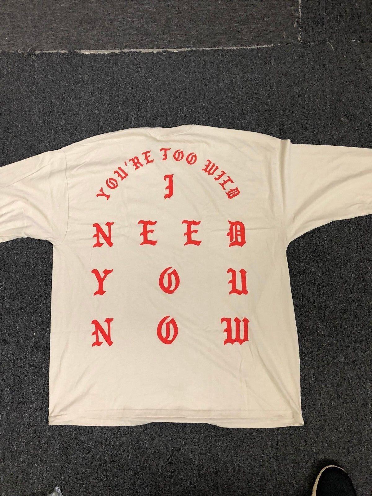KANYE WEST NEW YORK NEED YOU T-SHIRT Weiß Sz M-XXL 2016 PABLO