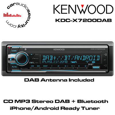 Bluetooth iPhone AUX USB CD MP3 Spotify Car Stereo Kenwood KDC-BT720DAB DAB