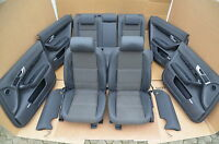 Audi A6 4F Allroad Lederausstattung Leder Schwarz Stoff Avant Ledersitze Sitz
