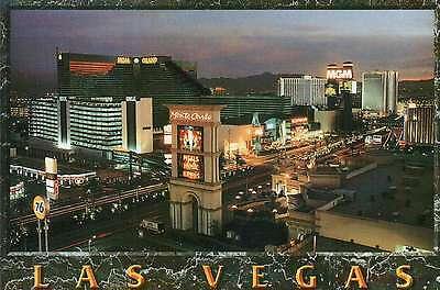 The Strip Las Vegas NV Monte Carlo Casino Board Postcard MGM Tropicana Hotel