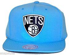 New NBA Brooklyn Nets Mitchell & Ness Powder Blue White Poly Snapback Jordan XI