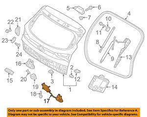 hyundai oem 16 18 tucson liftgate tailgate hatch latch 81230d3100 ebay rh ebay com 2005 Ford Tailgate Parts Diagram Chevy S10 Tailgate Parts Diagram