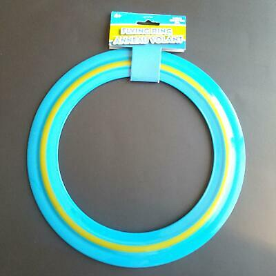 """11/"""" Green with Yellow Strip Plastic Flying Ring Frisbee Fast Free Shipping NEW"""