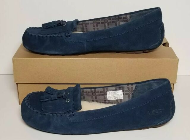 612c6cc7a36 UGG Lizzy Moccasin Slippers Navy Women's 11