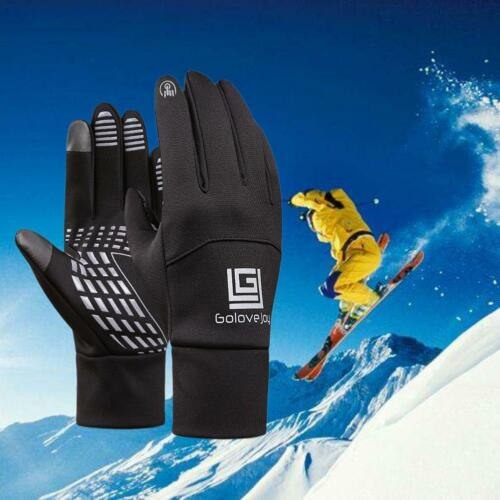 Unisex Touchscreen Winter Warm Fleece Lined Thermal Gloves For Skiing Outdoor