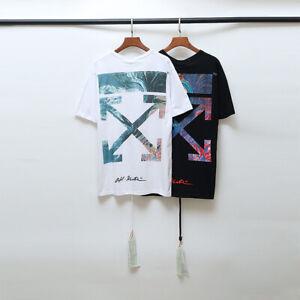 OFF-WHITE-C-O-limited-19-SS-Men-Women-multicolor-Gradient-Arrow-T-Shirt-OW74