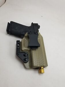 Polymer 80 holster pf940cv1 FDE carbon fiber kydex holster