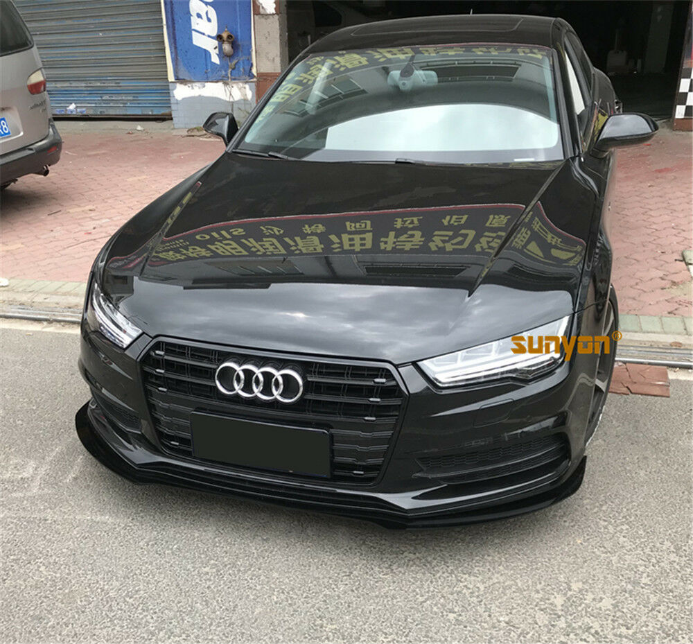 A7 Front Grille Mesh Grill for Audi A7 Sline S7 2011-15 To RS7 Style Full Black