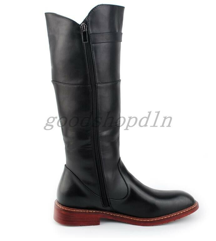 New Fashion Uomo Synthetic Knight Knee High High High Stivali Cowboy Equestrian Riding Shoes 2ba537