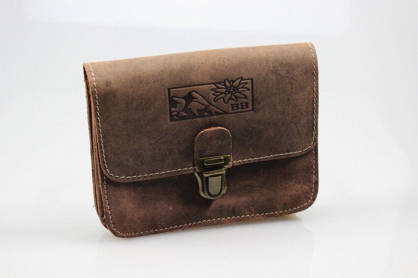Bayern Bag Vintage Leder Gürteltasche Herrentasche Bauchtasche Naturbraun