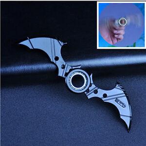 Image is loading Batman-Batarang-Fidget-Spinner-Ring-Alloy-Tri-Spinner-