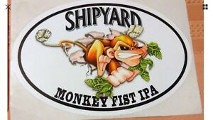 Shipyard Brewing Co Sea Dog... Lot of 5 BIG Beer//Brewery Stickers Moosehead
