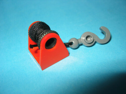 Lego Seilwinde 2584 rot 35 cm Schnur und Haken für Abschlepp-Autos Feuerwehr