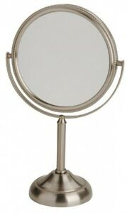 Vanity Mirror 6 Inch 10 X Magnification Nickel Bedroom