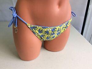 JUICY-COUTURE-Bikini-Bottoms-Swimsuit-Bluebirds-Women-039-s-Small