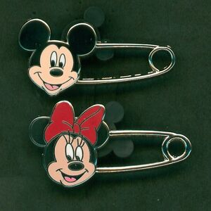Disney pin Mickey and Minnie Mouse - Safety Pins (2 Pin Set)