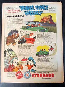 1939 Disney TRAVEL TYKES WEEKLY #14 Standard Oil premium. higher grade