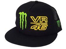 Oficial Vr46 Valentino Rossi Monster Energy Negro Trucker Snapback Flat Cap