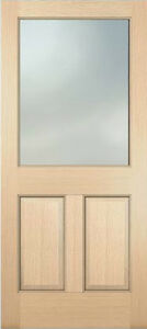 Exterior hemlock solid stain grade french doors 1 lite for Solid french doors exterior