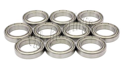 10 Bike Wheel//Axle Ball Bearings S6800ZZ Shielded VXB