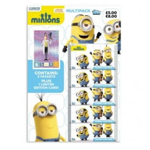 MINIONS TRADING CARDS MULTI PACK INCLUDES 5 PACKETS PLUS LIMITED EDITION CARD