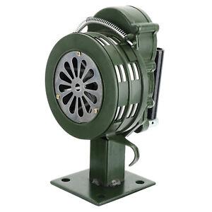 Green Manual Hand Lever Operated Lightweight Siren Air Raid Portable Alarm US