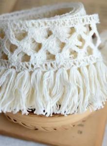 Beige-Cream-6cm-Trim-Tassel-Fringe-DIY-Cotton-Lace-Ribbon-Price-per-30cm