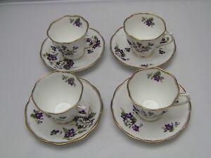 ROYAL ALBERT BONE CHINA violettes for love thé tasses et soucoupes-Set de 4-afficher le titre d`origine E964bVHc-09160624-742651866