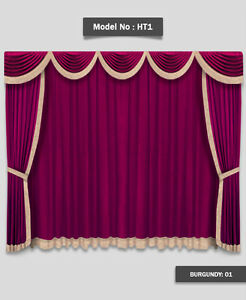 12-039-W-x-8-039-H-Saaria-Home-Theater-Event-Stage-Movie-Hall-Valance-Curtains-HT-1