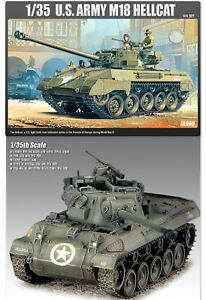 ACADEMY-U-S-ARMY-M18-HELLCAT-13255-Plastic-model-set-1-35-Scale