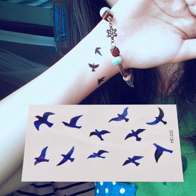 FakeTattoo Stickers Liberty Birds Fly Waterproof Temporary Tattoos Sticker HU