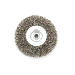 3-Inch-6mm-Arbor-Stainless-Steel-Wire-Wheel-Brush-For-Bench-Grinder-Abrasive-New
