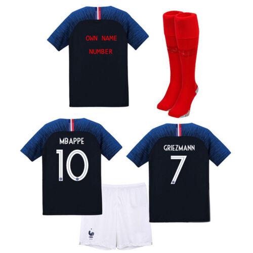 18//19 PSG MBAPPE Fußball Kurzarm 3-14 Jahre Kinder Kit+Socken Erwachsene SML XL