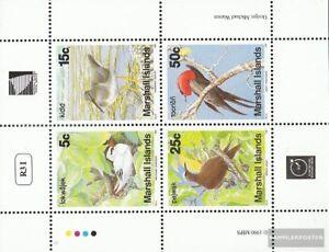 Marshall-îles 284-287 Feuille Miniature (complète Edition) Oblitéré 1990 Oiseaux