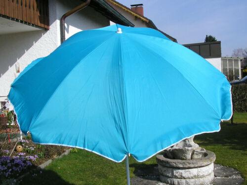 Sonnenschirm 2 m Schirm Terrassenschirm Sonnenschutz UV 35 Türkis 200 cm
