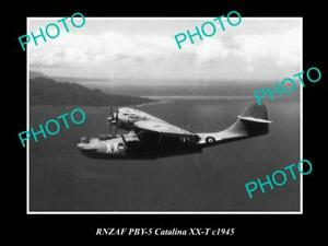 OLD-POSTCARD-SIZE-PHOTO-OF-THE-RNZAF-AIR-FORCE-CATALINA-SEAPLANE-c1945