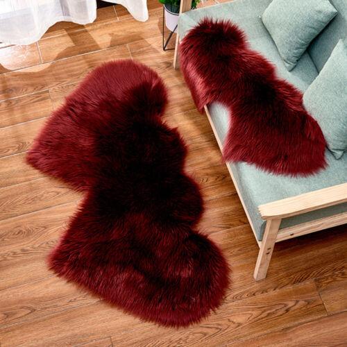 Herz Matte Weich Teppich Waschbar Shaggy Fellteppich Kunstfell Carpet Wohnzimmer