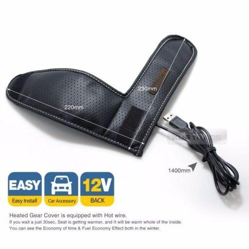 Car Heat Cushion Hot Gear Knob Shift Lever Cover Heated Pad DC 12V For HYUNDAI