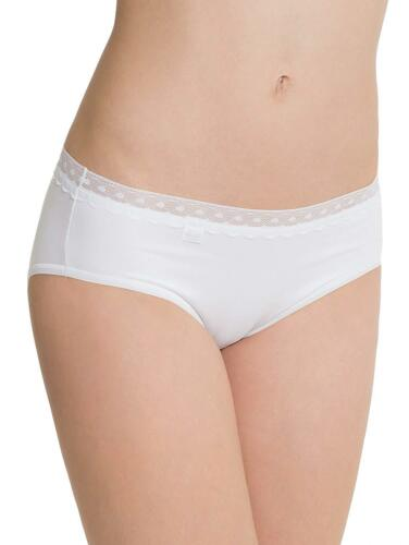 Sloggi Feel Pure Lace Midi Knickers Briefs 2 Pack 10149072 in Black or White