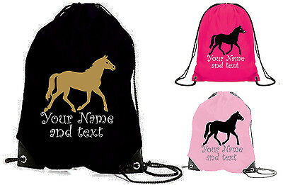 Personalised Horse Riding Hat//Grooming//Drawstring Bag
