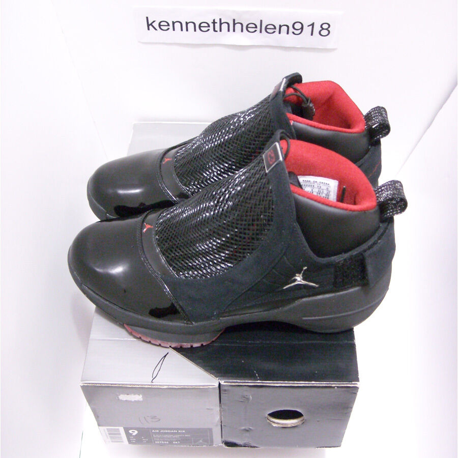 low priced 0a113 568b2 ... NEW 2004 2004 2004 NIKE AIR JORDAN 19 XIX ORIGINAL BLACK CHROME VARSITY  RED MENS SIZE ...