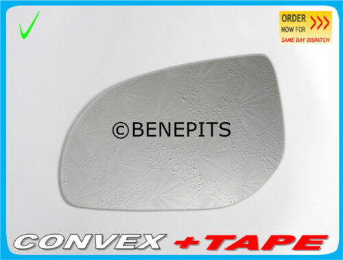 TAPE //417 For HYUNDAI i20 2009-2014 Left Side Convex Stick On Wing Mirror Glass