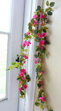 2 Artificial Rose Flowers Vine Hanging Wedding Garland Arch Decoration