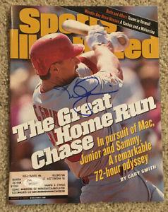 MARK MCGWIRE Signed 8/3/98 1998 Baseball Sports Illustrated JSA WP22677 Cardinal