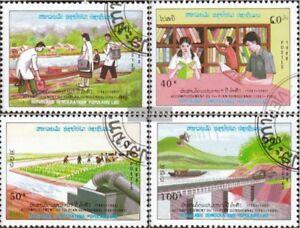 Laos-1113-1116-kompl-Ausg-gestempelt-1988-Fuenfjahresplan