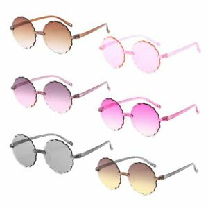 c8fe6a7715ca Sun Glasses Round Flower Gafas Baby Child Tint Clear Lens Colorful ...