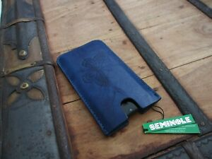 custodia pelle telefono porta cellulare blu Samsung S10 iPhone ...