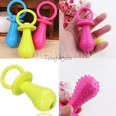 Rubber Pacifier for Pet Puppy Toys Dog Cat Chew Toys with Bell Sound Inside