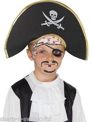 Analytisch New Girls Jungen Kinder Pirat Kapität Schädel & Gekreuzte Knochen Kostüm Hut Hoher Standard In QualitäT Und Hygiene