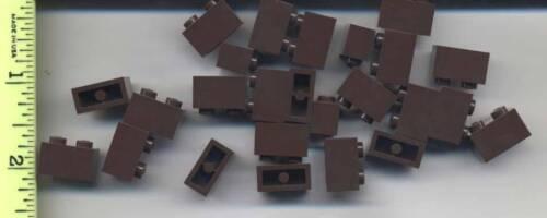 LEGO x 25 Dark Brown Brick 1 x 2 NEW bulk lot 4195 rare